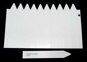 6.75-inch white PRINTABLE plant labels - sheet of 10